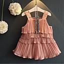 זול סטים של ביגוד לבנות-סט של בגדים כותנה קיץ ללא שרוולים יומי אחיד בנות יום יומי ורוד מסמיק