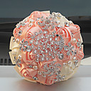 """זול הד פיס למסיבות-פרחי חתונה זרים חתונה שזירה קריסטל/אבן ריין מֶשִׁי 9.06""""(לערך.23ס""""מ)"""
