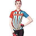 baratos Camisas & Shorts/Calças de Ciclismo-Nuckily Mulheres Manga Curta Camisa para Ciclismo - Camuflado Moto Camisa / Roupas Para Esporte, Resistente Raios Ultravioleta, Respirável, Tiras Refletoras Poliéster, Lycra / Com Stretch