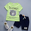 cheap Boys' Clothing Sets-Boys' Daily Clothing Set, Nylon Summer Short Sleeves Casual Green White Red Yellow