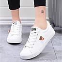 cheap Women's Sneakers-Women's Canvas Summer Comfort Sneakers Flat Heel Closed Toe White / Black / Blue