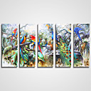 זול אומנות ממוסגרת-הדפסי בד מתוחים חמישה פנלים בַּד אופקי דפוס דקור קיר קישוט הבית