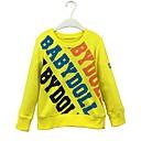 cheap Girls' Pants & Leggings-Boys' Solid Letter Hoodie & Sweatshirt, Cotton Spring Fall Long Sleeves Simple Cute Cartoon Yellow