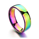 cheap Men's Rings-Men's Band Ring - Stainless Rainbow Colorful 6 / 7 / 8 / 9 / 10 Champagne For Daily Formal