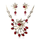cheap Wedding Shoes-Women's Jewelry Set - Gold Plated Fashion, Elegant Include Bridal Jewelry Sets Red For Wedding / Party