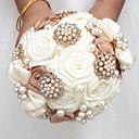 """זול פרחי חתונה-פרחי חתונה זרים חתונה שזירה קריסטל/אבן ריין מֶשִׁי 9.06""""(לערך.23ס""""מ)"""