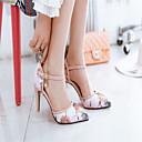 זול נעלי עקב לנשים-דמוי עור אביב / קיץ נוחות עקבים עקב סטילטו בוהן מחודדת שחור / כחול / ורוד / שמלה