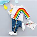 povoljno Kompletići za dječake-Dijete koje je tek prohodalo Dječaci Aktivan Dnevno Print Dugih rukava Normalne dužine Pamuk Komplet odjeće Obala
