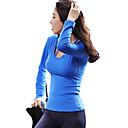 זול בגדי ריצה-בגדי ריקוד נשים פתוח בגב טישרט לריצה - שחור, פוקסיה, כחול סקיי ספורט צמרות יוגה, כושר וספורט, חדר כושר שרוול ארוך לבוש אקטיבי ייבוש מהיר, לביש, נשימה