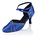 baratos Sapatos de Dança Moderna-Mulheres Sapatos de Dança Moderna Cetim Sandália / Salto Salto Personalizado Personalizável Sapatos de Dança Preto / Azul / Profissional