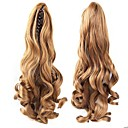 cheap Human Hair Weaves-Clip In Ponytails Bear Claw/Jaw Clip Hair Piece Hair Extension Wavy