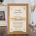 זול מזכרות בקבוק-כרטיס שטוח הזמנות לחתונה 20 - כרטיסי הזמנה סגנון מודרני נייר עם תבליטים רצועות