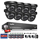 cheap Indoor IP Network Cameras-BNC / 8 Channel 1080P (1920*1080) 8 pcs 2.0 Dome 30 m 1TB