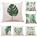 cheap Pillow Covers-6 pcs Linen Cotton / Linen Pillow Cover, Floral Botanical Art Deco