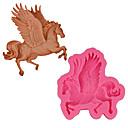 olcso Sütőeszközök-3d ló fondant szilikon torta forma egyszarvú szappan sütés formák pegasus