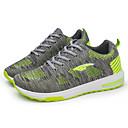 זול נעלי ספורט לגברים-בגדי ריקוד גברים PU חורף נוחות נעלי אתלטיקה שחור / אפור / ירוק / ריצה