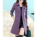 cheap Birthday Home Decorations-Women's Trench Coat - Solid Colored Shirt Collar