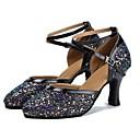 זול נעליים מודרניות-נעליים מודרניות Paillette / דמוי עור סנדלים / עקבים קשתות עקב מותאם מותאם אישית נעלי ריקוד שחור