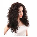 זול פיאות תחרה סינטטיות-פאות סינתטיות מתולתל / Kinky Curly שיער סינטטי חלק אמצעי / פאה אפרו-אמריקאית חום פאה בגדי ריקוד נשים ללא מכסה