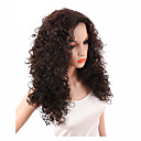 billige Gaveæsker-Syntetiske parykker Krøllet / Kinky Curly Syntetisk hår Midterskilning / Afro-amerikansk paryk Brun Paryk Dame Lågløs Mørkebrun