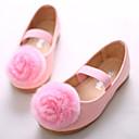 זול נעלי ילדות-בנות נעליים PU אביב קיץ חדשני / נעליים לילדת הפרחים שטוחות נוצות / סרט גומי ל לבן / ורוד / מסיבה וערב