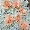 hesapli Suni Çiçek-Yapay Çiçekler 10 şube Modern Stil Güller Masaüstü Çiçeği