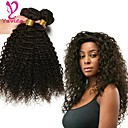 cheap One Pack Hair-3 Bundles Brazilian Hair Kinky Curly Virgin Human Hair Natural Color Hair Weaves / Hair Bulk Human Hair Weaves Human Hair Extensions