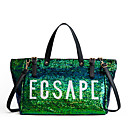 cheap Bag Sets-Women's Bags PU(Polyurethane) Tote Lace Green / Black