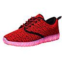 זול נעלי בד ומוקסינים לגברים-בגדי ריקוד גברים בד / PU אביב / סתיו נוחות נעלי אתלטיקה ריצה אפור / אדום / כחול ים