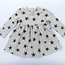 זול חולצות לבנות-שמלה כותנה אביב קיץ שרוול ארוך יומי גיאומטרי גלקסיה הילדה של יום יומי פעיל פוקסיה כחול בהיר אפור בהיר