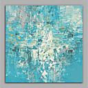 olcso Absztrakt festmények-Hang festett olajfestmény Kézzel festett - Absztrakt Modern Anélkül, belső keret / Hengerelt vászon