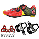 cheap Men's Boots-SIDEBIKE Cycling Shoes With Pedals & Cleats / Road Bike Shoes Carbon Fiber Anti-Slip, Wearable Cycling Black / Red / Green / Black Men's / Women's