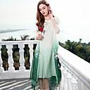זול מערכות פעמון דלת-בסיסי, קולור בלוק - שמלה משוחרר סגנון סיני בגדי ריקוד נשים