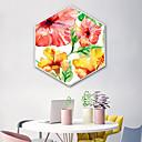 זול אומנות ממוסגרת-בוטני פרחוני/בוטני איור וול ארט,פלסטיק חוֹמֶר עם מסגרת For קישוט הבית אמנות מסגרת סלון