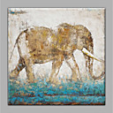 cheap Oil Paintings-Oil Painting Hand Painted - Abstract Animals Modern Canvas