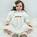 זול בובות-NPK DOLL בובה מחדש תינוק 24 אִינְטשׁ סיליקון / ויניל - כְּמוֹ בַּחַיִים, ריסים ידניים, ציפורניים אטומות וחותמות הילד של בנות מתנות / CE / עור טבעי / ראש דיסקט