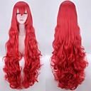 preiswerte Kuchenbackformen-Synthetische Perücken Wellen / Große Wellen Rot Mit Pony Synthetische Haare Natürlicher Haaransatz Rot Perücke Kappenlos Rot