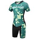 cheap Cycling Jersey & Shorts / Pants Sets-Malciklo Men's Short Sleeve Triathlon Tri Suit - Green Camouflage / British Bike Quick Dry, Breathable Coolmax® / Lycra