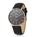 זול שרשרת אופנתית-בגדי ריקוד נשים נשים שעון יד קווארץ שעונים יום יומיים עור להקה אנלוגי יום יומי אופנתי מינימליסטי שחור / לבן / חום - שחור חום שחור / לבן שנה אחת חיי סוללה