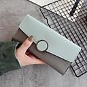 זול תיקי יד-שקיות PU ארנקים כפתורים ל קזו'אל אדום כהה / ירוק בהיר