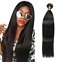cheap One Pack Hair-1 Bundle Peruvian Hair Straight Human Hair Natural Color Hair Weaves 8-28 inch Human Hair Weaves Human Hair Extensions Women's