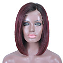 cheap Bag Sets-Remy Human Hair Glueless Lace Front Lace Front Wig Brazilian Hair Straight Wig Bob 130% Density with Baby Hair Ombre Hair Natural Hairline African American Wig 100% Hand Tied Women's 10 inch 12 inch