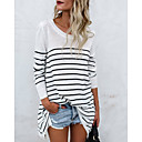 cheap Backpacks-Women's Basic Cotton Loose T-shirt - Striped
