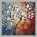 זול ציורי שמן-ציור שמן צבוע-Hang מצויר ביד - פרחוני / בוטני מודרני כלול מסגרת פנימית / בד מתוח