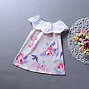 baratos Vestidos para Meninas-Menina de Vestido Diário Para Noite Floral Estampa Animal Primavera Verão Raiom Sem Manga Casual Boho Arco-íris