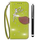 זול מגנים לטלפון & מגני מסך-מגן עבור Vivo X20 Plus X20 מחזיק כרטיסים ארנק ריינסטון עם מעמד נפתח-נסגר כיסוי מלא צבע אחיד קשיח עור PU ל vivo X20 Plus vivo X20