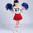 hesapli Amigo Kostümleri-Amigo Kostümleri Kıyafetler Genç Kız Eğitim Polyester Dantelalar Kısa Kollu Düşük Etekler Top