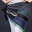 זול אביזרים לגברים-ריקוד בטן רגיל בגדי ריקוד נשים הדרכה פוליאסטר חגורה Paillette צעיף מותניים לריקודי בטן