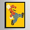 halpa Kehystetty taide-Kehystetty kanvaasi Kehystetty setti - Ihmiset Sarjakuva Muovi Illustration Wall Art