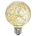 baratos Lâmpadas Filamento de LED-1pç 3W 300lm E26 / E27 Lâmpadas de Filamento de LED G95 33 Contas LED SMD Estrelado Decorativa Luz LED Branco Quente 85-265V